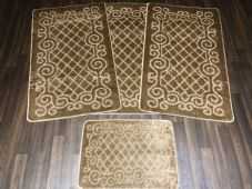 ROMANY WASHABLES NEW GYPSY SETS OF 4PCS DARK BEIGE MATS NON SLIP TOURER SIZE RUG